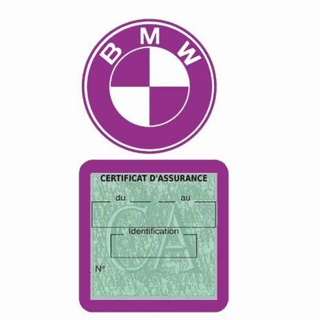 BMW pochette étui assurance voiture moins 4 Ans mauve