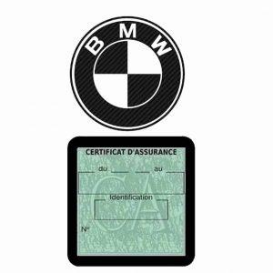 BMW pochette étui assurance voiture moins 4 Ans noir