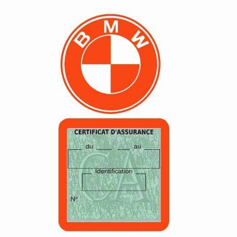BMW pochette étui assurance voiture moins 4 Ans orange