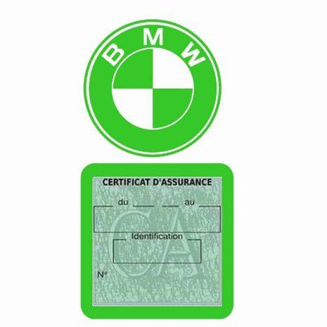 BMW pochette étui assurance voiture moins 4 Ans vert clair