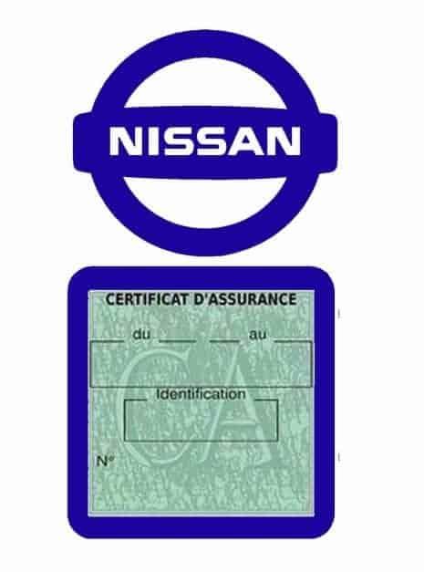 NISSAN pochette étui assurance voiture moins 4 Ans bleu foncé