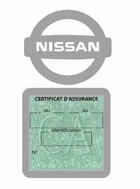 NISSAN pochette étui assurance voiture moins 4 Ans gris