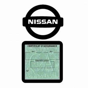 NISSAN pochette étui assurance voiture moins 4 Ans