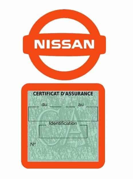 NISSAN pochette étui assurance voiture moins 4 Ans orange