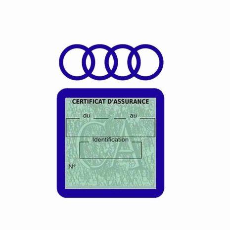 AUDI pochette étui assurance voiture moins 4 Ans bleu foncé
