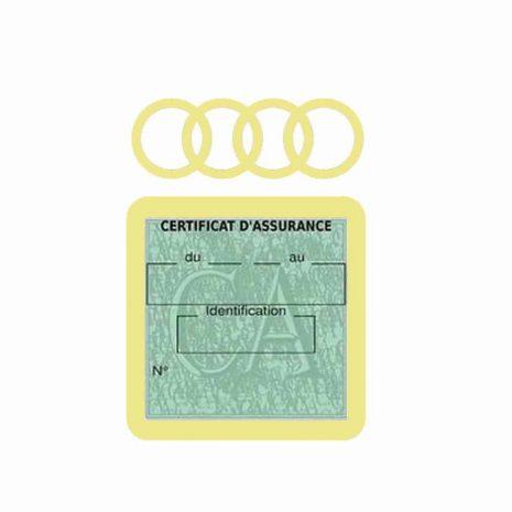 AUDI pochette étui assurance voiture moins 4 Ans beige