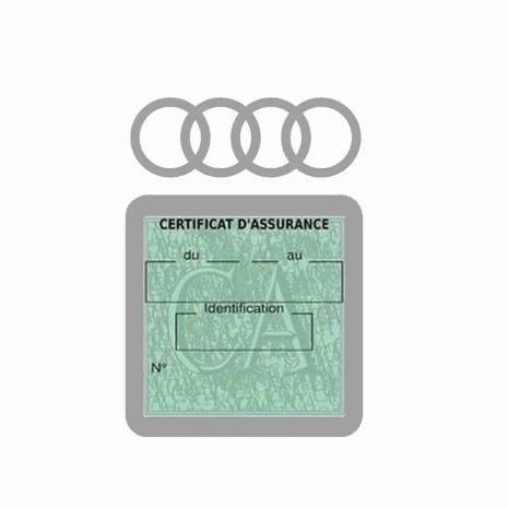AUDI pochette étui assurance voiture moins 4 Ans gris