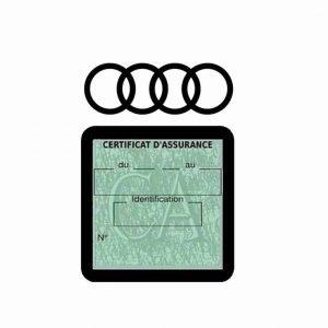 AUDI pochette étui assurance voiture moins 4 Ans