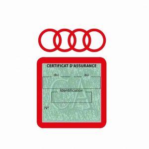 AUDI pochette étui assurance voiture moins 4 Ans rouge