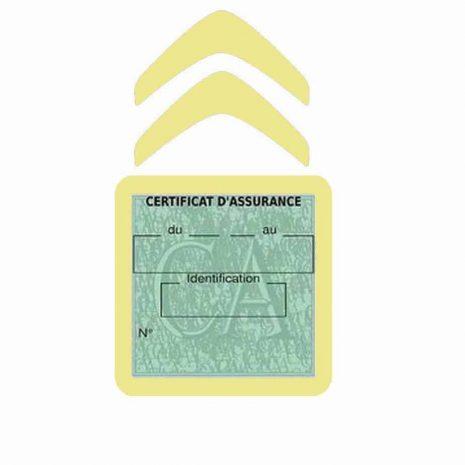 CITROEN pochette étui assurance voiture moins 4 Ans beige