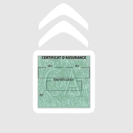 CITROEN pochette étui assurance voiture moins 4 Ans blanc