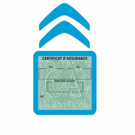 CITROEN pochette étui assurance voiture moins 4 Ans bleu clair