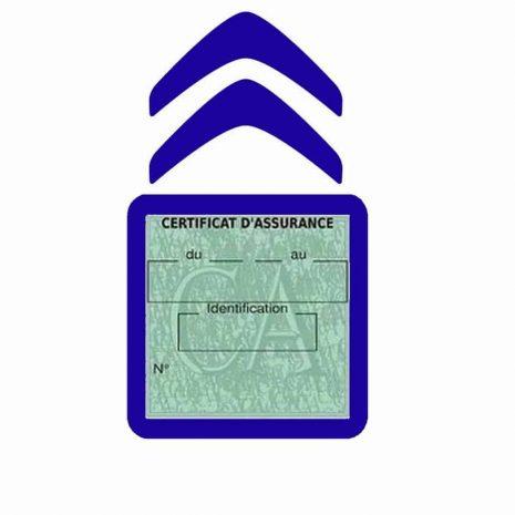 CITROEN pochette étui assurance voiture moins 4 Ans bleu foncé