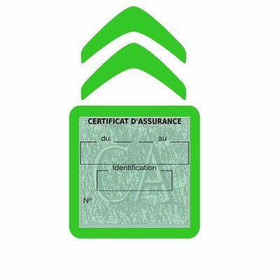 CITROEN pochette étui assurance voiture moins 4 Ans vert clair