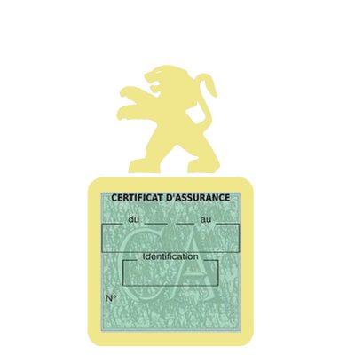 PEUGEOT pochette étui assurance voiture moins 4 Ans
