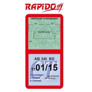RAPIDO étui vignette assurance Camping-Car