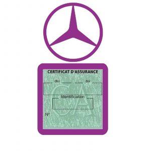 MERCEDES étui assurance voiture moins 4 Ans