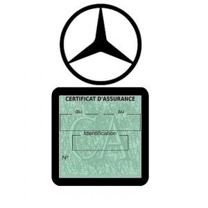 MERCEDES pochette étui assurance voiture moins 4 Ans