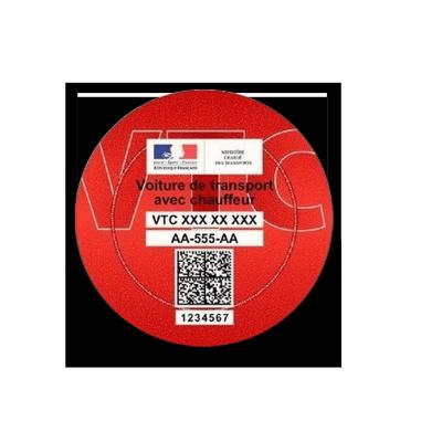 Macaron VTC stickers Pochette pare-brise